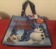DISNEY FROZEN OLAF TOTE SHOPPING GIFT BAG HALLOWEEN TRICK OR TREAT NWT
