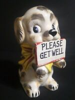 Napco Japan 1956 Planter  Please Get Well Dog