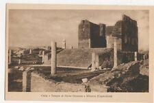 Ostia Tempio di Giove Giunone e Minerva Italy Vintage Postcard 294a