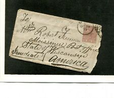 Great Britain Scott 66 Stamp Cover Half Penny 1566G