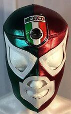 MEXICO -SANTO- SOCCER MASK!!MEXICAN FLAG COLORS WITH LOGO.SI SE PUEDE! EL TRI!!