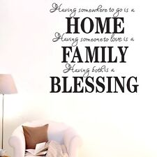 Home Family Blessing Wall Quotes decal stickers decor Vinyl DIY home art mural