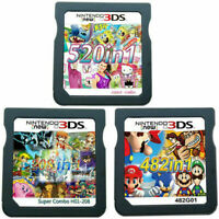 208/482/520 in 1 Video Games Cartridge Cards For DS NDS 2DS 3DS NDSI NDSL USA