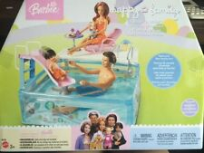 Splash n Slide Swimming Pool Playset Happy Family Barbie Doll NEW 2003