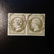 FRANCE STAMP NAPOLÉON NO.11 PAIR OBLITERATION STAMP DATED SIDE