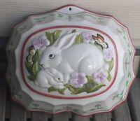Vintage 1986 Le Cordon Bleu Franklin Mint Ceramic Mom & Baby Bunny Jello mold