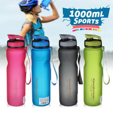 1000ml Sports Water Bottle Leakproof Plastic Fitness Running Gym Bottle Portable
