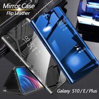 CUSTODIA per Samsung Galaxy S10/S10E/S10 Plus Flip Case Mirror View Stand COVER