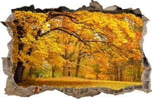 WALL STICKERS HOLE IN THE WALL 3D Autumn trees decorative sticker to the room 33