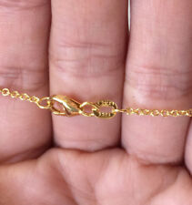 """14k Yellow Gold 1.5mm Italy Rolo Chain Necklace Sparkly 24"""" 3.4g"""