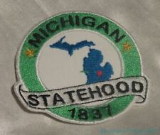 Embroidered Michigan State Pride Statehood MI Souvenir Patch Iron On Sew On USA