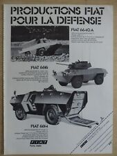 2/1976 PUB FIAT IVECO BLINDE AMPHIBIE 4X4 FIAT 6614 6616 6640 A FRENCH AD