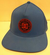 DC Shoes Snapback Hat Baby Blue Vented Trucker
