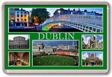 FRIDGE MAGNET - DUBLIN - Large - Ireland TOURIST