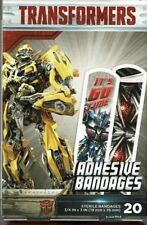 """One Transformers Adhesive Bandages 20 ct box 3/4"""" X 3"""" Optimus Prime Bumble Bee"""