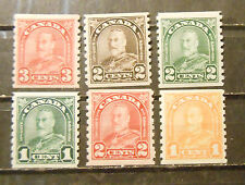 small lot Canada King George V coil stamp mint OG hinged VF