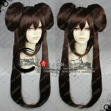 Pokemon Black White 2 Bw2 Heroine Anime Costume Dark Brown Cosplay Wig