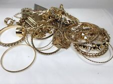 LOT OF USED COSTUME JEWELRY Bracelets earrings rings gold use costume