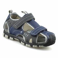 Color : Lightbrown , Size : 1 M US Little Kid Non-Slip Summer Shoes Kids Boys Open Toe Three Strap Walking Sandals Durable