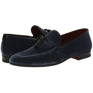 "Magnanni ""San Pedro"" Velvet Loafer, Men's Slip-on Evening Shoes, Grey"