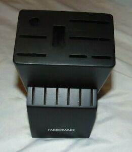 New FARBERWARE Black 14 Slot Wood Knife BLOCK No Knives