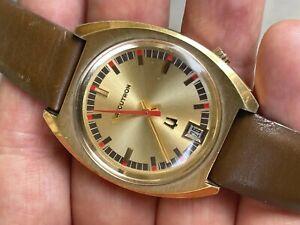 1971 Bulova Accutron 2181 Gold Filled Original Dial Date on 6 o'Clock Serviced