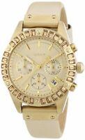 DKNY Chronograph Quartz Movement Gold Dial Ladies Watches 8655