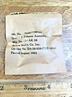 NOS Genuine Bulova Balance Assembly for 10AK Watch Part, Factory Sealed  (K3086)