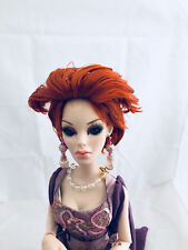 Bulletproof WIG Red - Tonner Ellowyne Wilde doll fashion - restyled, fire like