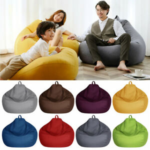 Large Bean Bag Chair Sofa Cover Lazy Lounger Snugly Gamer Chair Sofa Couch Cover