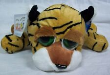 """Russ Animal Junction PAULY-D THE BIG EYED TIGER 10"""" Plush STUFFED ANIMAL Toy NEW"""