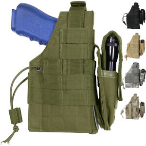 Tactical Gun Holster, MOLLE Pistol Firearm Army Camo Military Modular Belt Waist