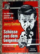 JERRY COTTON - Schüsse aus dem Geigenkasten - A1-Filmposter Ger 1-Sh. 65 EUROSPY