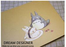 GHIBLI TOTORO My Neighbour Postcard Hayao Miyazaki Picture Greeting Gift Card x3