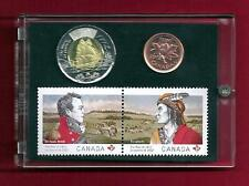 War of 1812 Stamp 2012 Penny 2012 Tonnie $2.00 Coin Stamp Set