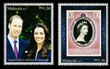 The Diamond Jubilee Of Queen Elizabeth II Royal Visit Malaysia 2012 (stamp) MNH