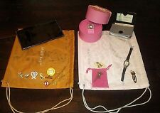 Vintage 18 Pc Lot Mary Kay Misc Consultant Watches Pins Bags Sunglasses Case