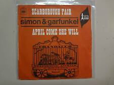 "SIMON & GARFUNKEL: Scarborough Fair/Canticle-April Come She Will-France 7"" PSL"
