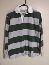 American Eagle Outfitters Vintage Rugby Striped L/S Rugby Polo Shirt - Men's XS