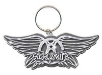 AEROSMITH Wings Logo Metal Keychain Official Band Merch Brand New