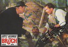 """Götz George, Sander, Hoppe Autogramm signed 20x30 cm Kinoaushangbild """"Der Bruch"""""""