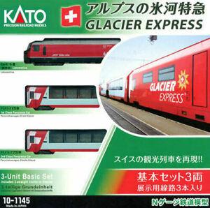 Kato 10-1145, N Gauge, Glacier Express train pack