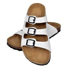 Leder Sandalen Bio Pantoletten 3 Schnallen Tieffu�Ÿbett Damen Herren Hausschuhe