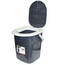 22L Portable Camping Toilet Bucket Seat Detachable Lid Outdoor Trip Festival Big