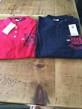 Jack and Jones Slim fit Polo shirt (red and navy) chest print (XS also)