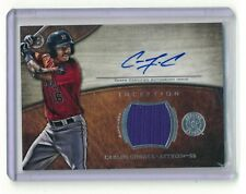 CARLOS CORREA AUTO/JERESY TOPPS BOWMAN 2014 INCEPTION BASEBALL CARD