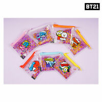 BTS BT21 Official Authentic Goods Spangle Mini Pouch 130 x 110mm By Kumhong