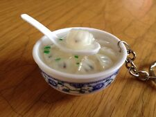 Chinese Dumpling Soup Fake Food CellPhone HandBag KeyCharm
