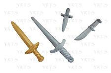 YRTS 7855 Playmobil Espadas Cuchillo y Daga Caballero Medieval ¡New!