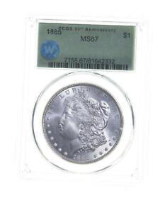 MS67 1885 Morgan Silver Dollar 30th Anniversary Sight White - Graded PCGS *5395